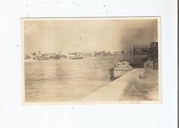 BELIZE (EX HONDURAS BRITANNIQUE) CARTE PHOTO AVEC PETITES EMBARCATIONS 1926 - Belice