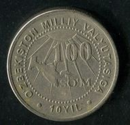 403-UZBEKISTAN-Usbekistan-Ouzbékistan-O'zbekiston To The Nation. Currency Of Uzbekistan Commemorative COIN 100 So'm 2004 - Ouzbékistan