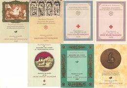 7-BLOC CROIX ROUGE-1958/1959/1960/1962/1963/1964/1967-TBE-Reste '4 Timbres Attachés A L Int De Chaque Bloc - Blocs Souvenir