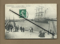 """CPA  - Cherbourg  - Le Quatre Mâts """"Asnières"""" Dans Le Port Du Commerce - Cherbourg"""