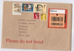 2017 ROYAL MAIL SIGNED FOR Label GB COVER Stamps 1st  2nd CHRISTMAS, 20 1/2p GREENWICH MERIDIAN MAP 35p 1st - 1952-.... (Elizabeth II)
