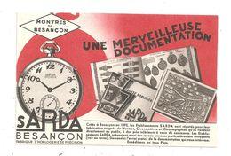 Besançon--Publicité; Montres Sarda (C.1739) - Besancon