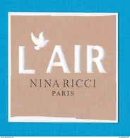 Cartes Parfumées  Carte Nina Ricci L'AIR  De NINA RICCI - Cartes Parfumées