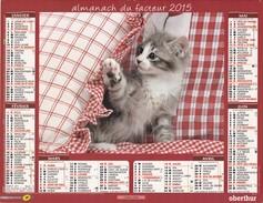 Almanach Du Facteur 2015  OBERTHUR LA POSTE AISNE 02 Chatons - Grand Format : 2001-...