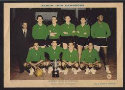 SPORTING CLUBE DA PORTUGAL (Campeao Nacional Basquetebol) Foto Gravura JOGADORES 1950s. Vintage Poster Football Portugal - Autres