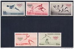 Ruanda-Urundi, Scott # B26-30 MNH Olympics, 1960 - 1948-61: Mint/hinged