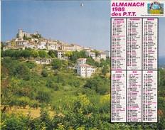 Almanach  1988 Des P.T.T  LAVIGNE OISE 60 - Big : 1981-90