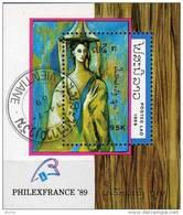 Ehrung Maler Picasso Philexfrance 1989 Laos Block 129 O 2€ Gemälde Frau Figur Paintings S/s EXPO Bloc Art Sheet Lao - Laos