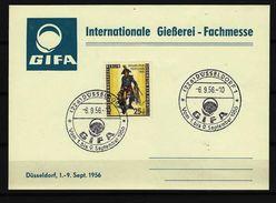BUND - BERLIN - Beleg Internationale Gießerei-Fachmesse Düsseldof 1956 Mit Berlin-Nr. 131 - Fabriken Und Industrien