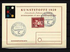 BUND - BERLIN - Sonderpostkarte Kunststoffe 1959 Mit Berlin-Nr. 178 - Internationale Fachmesse Der Industrie - Fabriken Und Industrien
