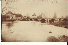 Photo  De Genlis  21   Le Pont De La Norge Inondations De 1910 _repro - Reproductions