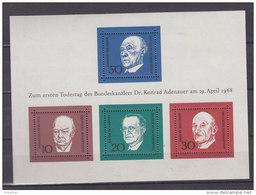 BRD Block 4, Postfrisch **, 1. Todestag Von Konrad Adenauer - [7] Federal Republic