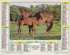 Almanach  1982 Des P.T.T  LAVIGNE AISNE 02 - Big : 1981-90