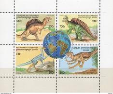 Prähistorische Tiere 1996 Kampucha 1627/0 Im 4-Block O 2€ Espino-Saurus Ss Nature Bloc Fauna WWF Sheet Bf Cambodge - Kampuchea