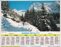 Almanach  1987des P.T.T  LAVIGNE OISE 60 - Big : 1981-90