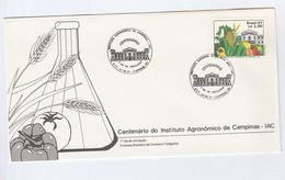 1987 BRAZIL FDC FRUIT Stamps Cover Agriculture - Fruits