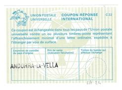 Coupon Type La 24 Avec Griffe Andorra-la-Vella - IRC CRI IAS - Interi Postali & Prêts-à-poster