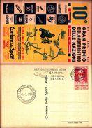 88453) Cartolina Del 10° Gran Premio Ciclomotoristico Delle Nazioni Con Annullo 6° Tappa Messina Catania-prampolini - 6. 1946-.. Republic