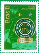 BRAZIL #3164 -  CENTENNIAL OF THE GUARANY  FOOTBALL CLUB  -  2011    MINT - Unused Stamps