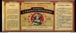 CHROMO ALIMENTAIRE L.G.SOUBIRAN BORDEAUX BŒUF JARDINIÈRE CYRANO BERGERAC 11X25 Cm - Fruits Et Légumes