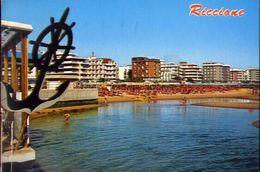 Riccione - Alberghi E Spiaggia - Formato Grande Viaggiata – E 3 - Rimini