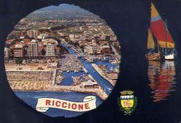 Riccione - Veduta Aereaz E Darsena - 60 - Formato Grande Viaggiata – E 3 - Rimini