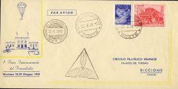 1949--Vaticano Aerogramma Prima Fiera Internazionale Del Francobollo Affr. L.25 Basilica+posta Aerea L.5 Bollo Figurato - Aéreo