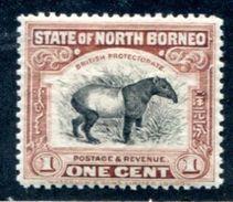North Borneo 1926-28 Tapir Fauna  MH*VF Perf 12 1/2 - Bornéo Du Nord (...-1963)
