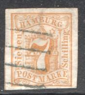 7 S  MiNr 6 - Hamburg