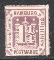1¼ S. MiNr 20 * - Hamburg