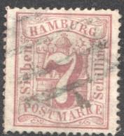 7 S  MiNr 19 - Hamburg