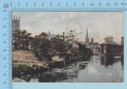 Derby England - Old Silk Mill, Cover Derby To Quebec Canada Cir: 1906 Canadian Stamp - Derbyshire