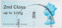 GB 2013 2nd Class Post And Go Used Code 011519 [14/25206/ND] - Great Britain