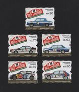 Stamps 2017 RALLY Of PORTUGAL Cars Car Automobiles VW FIAT AUDI LANCIA RENAULT - Portugal