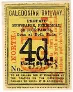 (I.B) Caledonian Railway : Newspaper Parcel 4d (North) - 1840-1901 (Victoria)