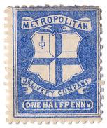 (I.B) Cinderella Collection : Circular Delivery Company (Metropolitan ½d) - 1840-1901 (Victoria)