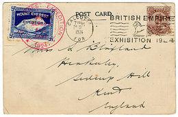 (I.B) Cinderella Collection : Mount Everest Expedition Postcard (signed) - 1902-1951 (Rois)