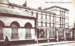 CP Animée Mons  Caserne Des Chasseurs à Pied (de Mons Vers Jolimont 29/1/1909) - Mons