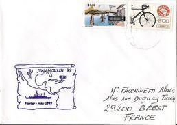 MARCOPHILIE NAVALE AVISO JEAN MOULIN MAI 1999 TIMBRE MEXIQUE - Poste Navale
