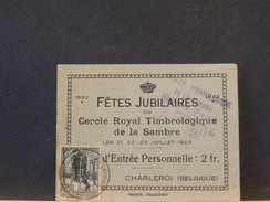 73/716  DOC.  BELGE 1923  OL CHARLEROY - Belgien