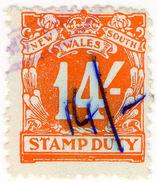 (I.B) Australia - NSW Revenue : Stamp Duty 14/- (1938) - Australia