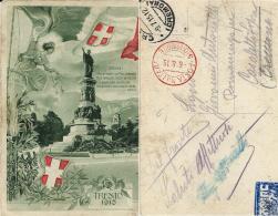 TRENTO PATRIOTTICA POSTA MILITARE 5a DIVISIONE 1915 EDOLO X CASALETTO SOPRA - Military Mail (PM)