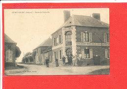 80 QUIRY Le SEC Cpa Animée Epicerie Mercerie Charbon H BELLEMERE Route De Folleville           Coll Bellemere - France