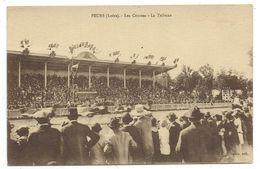 - FEURS, LES COURSES, LA TRIBUNE - Loire 42 - Animée, Circulé 1934 - Edit. Gelzie - Feurs