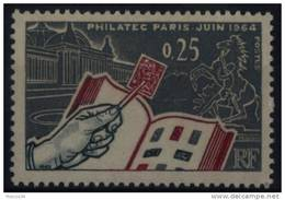 N° 1403 - X X - ( F 531 ) - ( Exposition Philatélique - Philatec Paris Juin 1964 ) - France