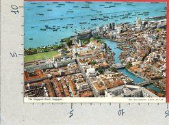 CARTOLINA NV SINGAPORE - The Singapore River - Aerial View - 10 X 15 - Singapore