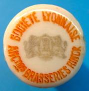 BOUCHON EN PORCELAINE SOCIETE LYONNAISE ANCIENNES BRASSERIES RINCK - Bière