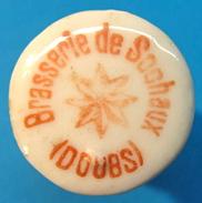 BOUCHON EN PORCELAINE BRASSERIE DE SOCHAUX DOUBS - Bière