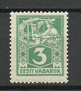 ESTLAND Estonia 1924 Michel 36 Type II (hor. Geriffeltes Papier) MNH - Estonie