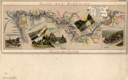 BELGIQUE - Guide Des Ardennes - Cours De L'Ourthe. - Maps